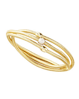Roberto Coin Primavera Diamond Wrap Bangle