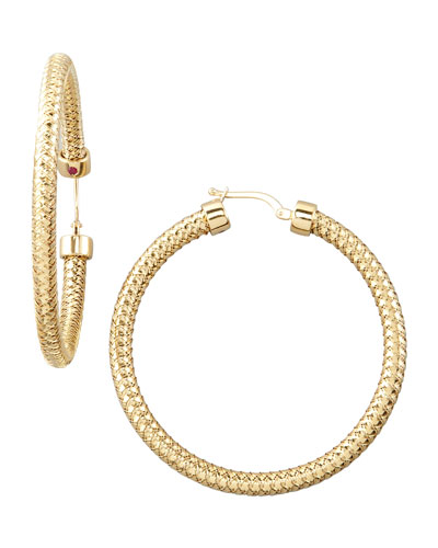 Roberto Coin Primavera Hoop Earrings