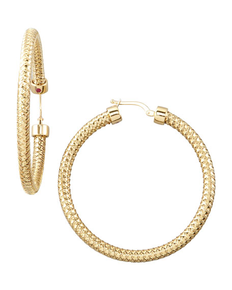 GOLD PRIMAVERA HOOP EARRINGS