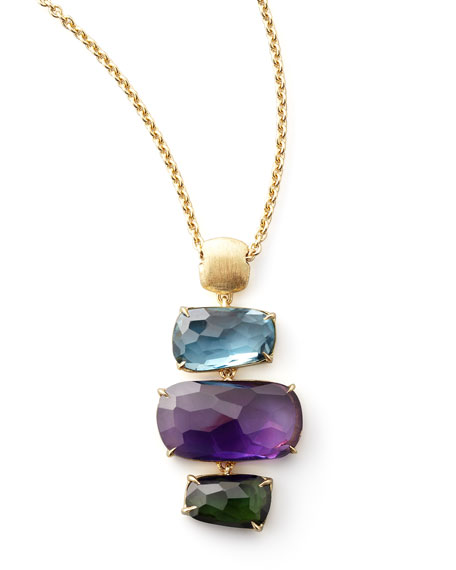 Murano Multi-Stone Pendant Necklace