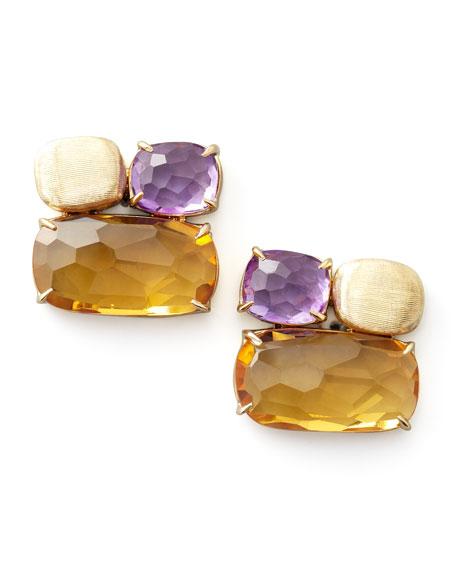 Murano Multi-Stone Stud Earrings