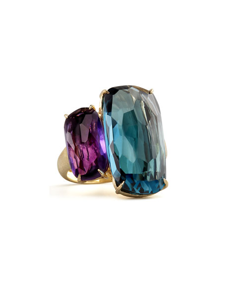 Amethyst & Topaz Ring