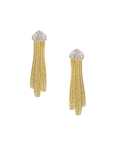 Cairo Medium Huggie Earrings with Diamonds