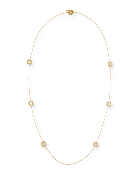 Roberto Coin Pois Moi 18k Mother-of-Pearl Long Necklace