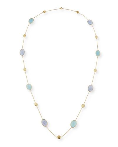 Siviglia Resort Aquamarine & Chalcedony Long Necklace