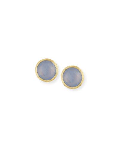 Siviglia Faceted Chalcedony Stud Earrings
