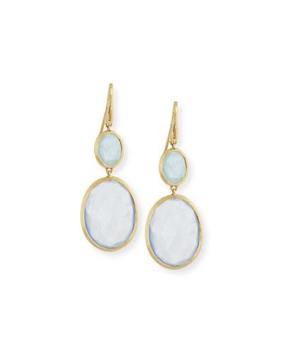 Siviglia Resort Aquamarine & Chalcedony Drop Earrings