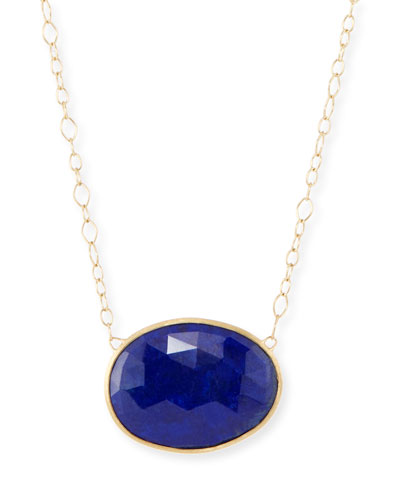 Lunaria Lapis Chain Necklace