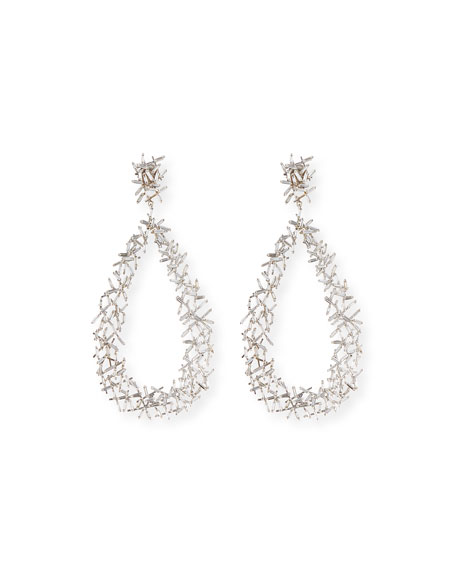 Baguette Diamond Stick Drop Earrings, 10.45 ct.