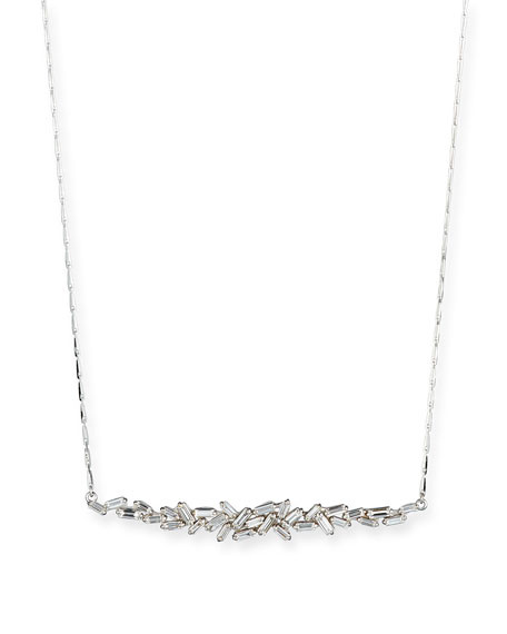Suzanne Kalan 18K White Gold Diamond Baguette Necklace, 1.0 tdcw