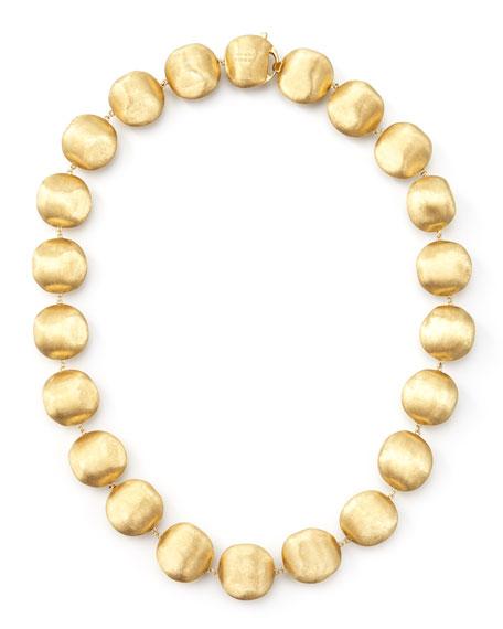 "Africa Gold Medium Bead Necklace, 17""L"