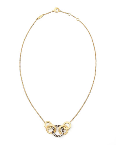 Marco Bicego Jaipur Link Pave Sapphire Necklace