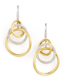 Marco Bicego Jaipur Diamond Link Drop Earrings