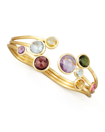 Jaipur Three-Strand Mixed-Stone Bangle