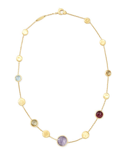 "Marco Bicego Jaipur Mixed-Stone Necklace, 16""L"