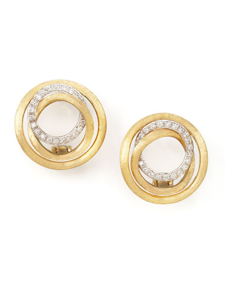 Jaipur Diamond Link Stud Earrings