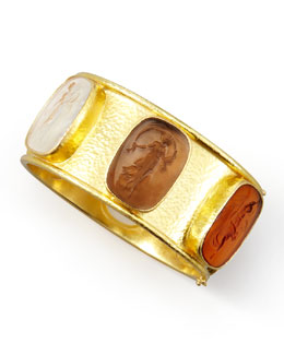 Elizabeth Locke Muse Intaglio 19k Gold Bangle, Neutral