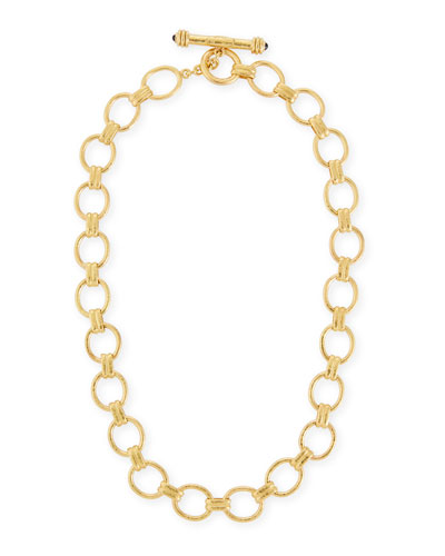 "Elizabeth Locke Rimini Gold 19k Link Necklace, 17""L"