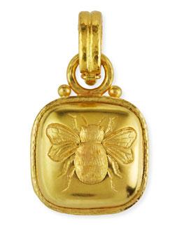 Elizabeth Locke 19k Gold Bee Pendant