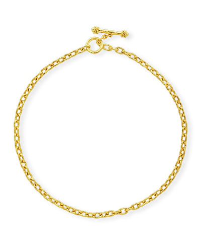 Orvieto 19k Gold Link Necklace, 17