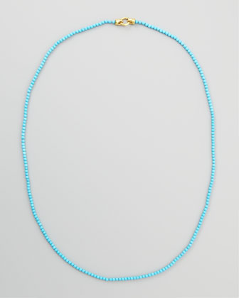 Turquoise Bead Necklace, 35