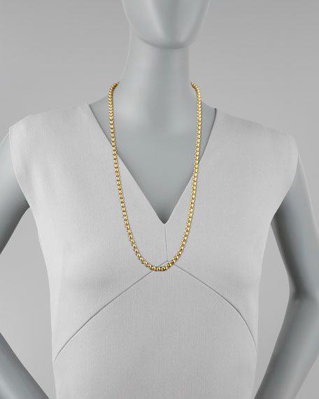 "Venezia 19k Gold Necklace, 31""L"