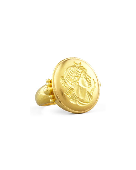 Elizabeth Locke 19k Gold Artemis Ring