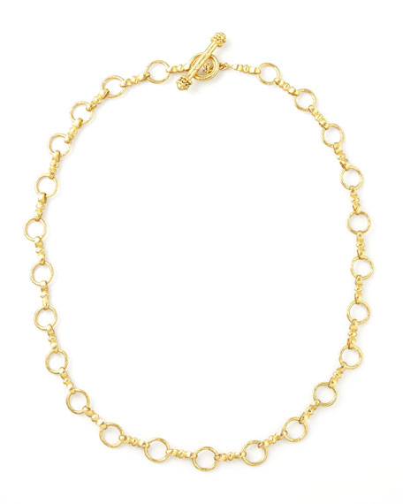"Celtic Gold 19k Link Necklace, 21""L"