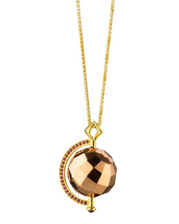 Monica Rich Kosann Passion Rose Gold Mars Ruby Pendant Necklace