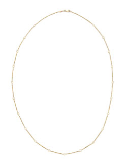 "Roberto Coin 24"" Yellow Gold Diamond Station Necklace, 1.04ct"