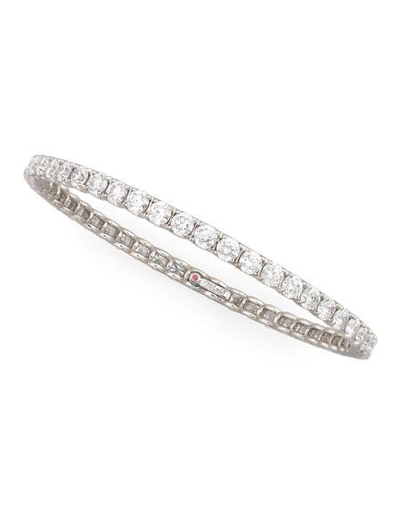 64mm White Gold Diamond Eternity Bangle, 11.5ct