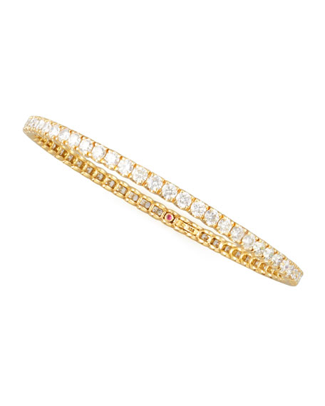 64mm Yellow Gold Diamond Eternity Bangle, 8.06ct