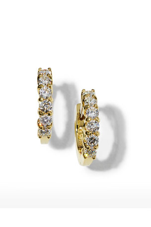 Roberto Coin 13mm Yellow Gold Diamond Hoop Earrings, 0.7ct
