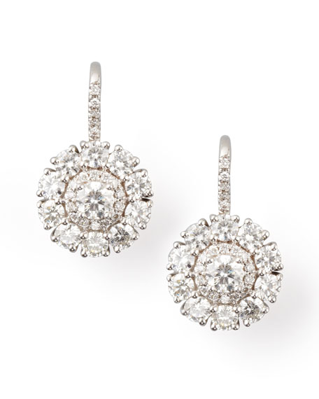 Petite Deco Treasures Princess Diamond Drop Earrings, G-H/VS2-SI1