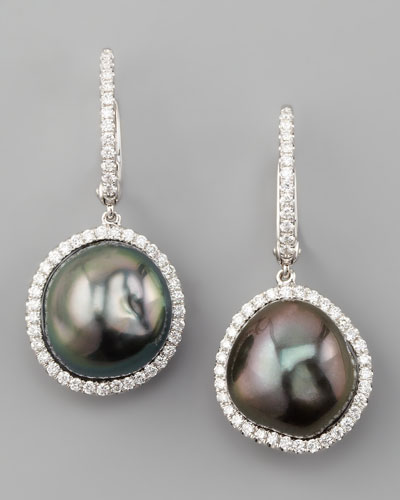 Eli Jewels Gray South Sea Pearl and Diamond