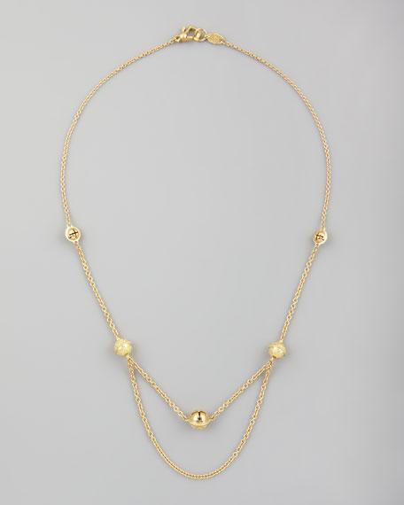 """18k Jingle Meditation Bell Necklace, 16""""L"""