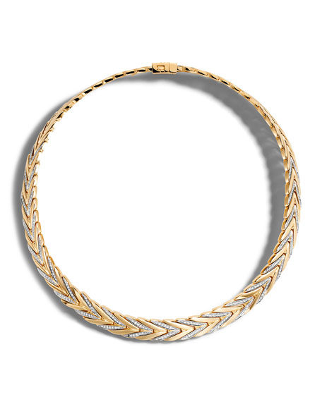 John Hardy Modern Chain Medium 18K Gold Necklace