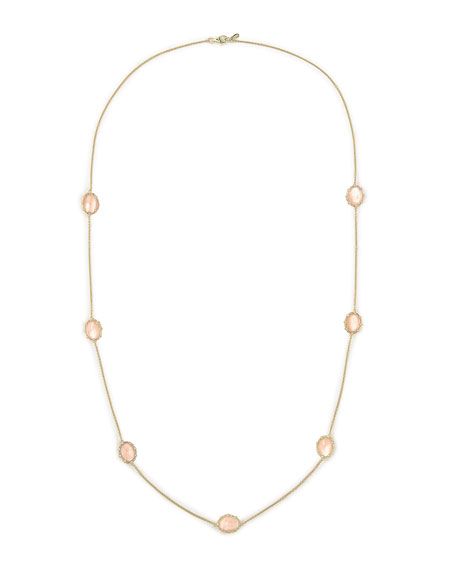 "Tivoli Pink Mother-of-Pearl Station Necklace, 36""L"