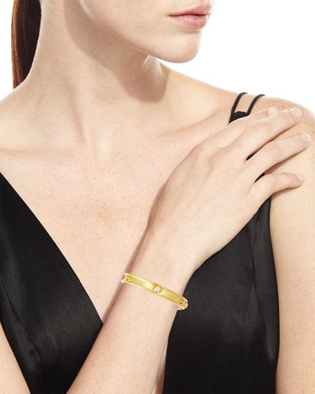Elizabeth Locke 19k Gold Flat Thin Diamond Bangle