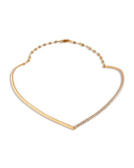 Lana Fatale 14k Gold Choker with Diamonds
