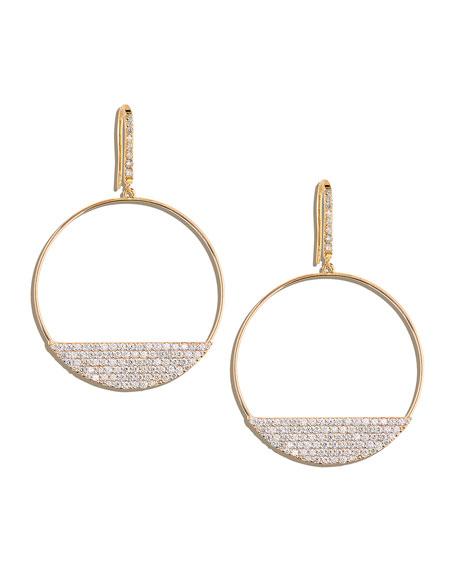 Fatale 14k Gold Diamond Eclipse Hoop Earrings