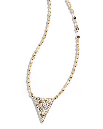 LANA Fatale Diamond Spike Charm Necklace