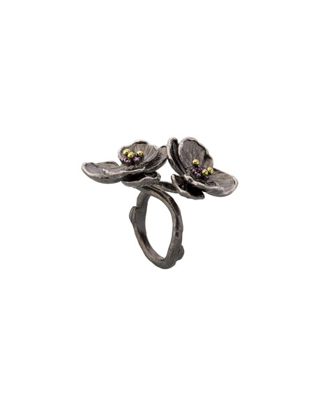 Pink Sapphire Double Orchid Ring