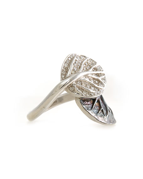 Botanical Double-Leaf Ring