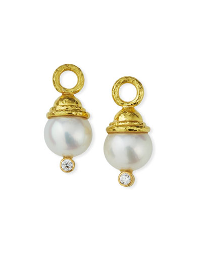 Pearl & Diamond Earring Pendants