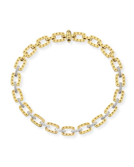 "Roberto Coin 18k Yellow Gold Pois Moi Necklace with Diamonds, 16""L"