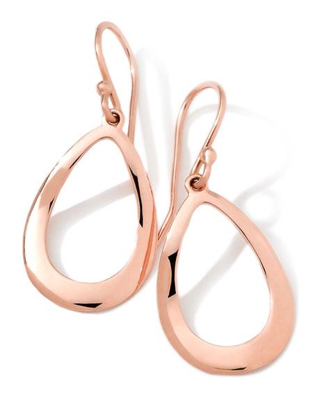 Ippolita 18K Rose Gold Smooth Open Teardrop Earrings, 32mm