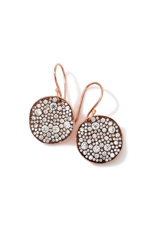 Ippolita 18k Rose Gold Stardust Flower Diamond Drop Earrings
