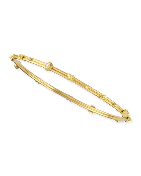 Armenta Sueno 18k Gold X & Diamond Bangle