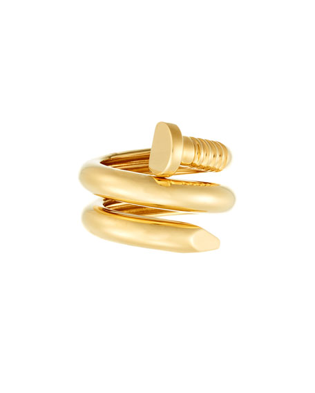18k Gold Polished Nail Ring, Size 6.5